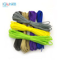 Wholesale Parachute Tents - Monochrome 5 Meters Dia .4mm 7 Stand Cores Paracord For Survival Parachute Cord Lanyard Camping Survival Equipment Tents Rope