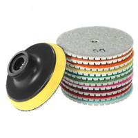 mermer döşeme toptan satış-10 Parça 3 Inç Elmas Esnek Islak Parlatma Pedleri Granit Mermer Taş Seramik Karo Beton için Taşlama Diski