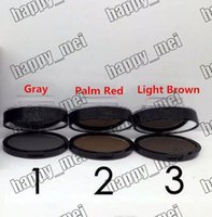 olhos castanhos claros venda por atacado-Frete Grátis ePacket Nova Maquiagem Olhos NO: K146 Seal A Sobrancelha Em Pó! Cinza / Palm Vermelho / Castanho Claro