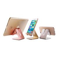 красивый держатель телефона оптовых-Универсальный красивый алюминиевый металлический мобильный телефон планшет держатель настольная подставка для iPhone x 7 Plus Samsung s8 plus с розничной упаковке