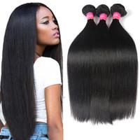 Wholesale tangled weave hair extensions for sale - Group buy 8A Brazilian Straight Hair Bundle Deals Natural Color Cheap Bundles Brazillian Straight Virgin Human Hair Extensions No Tangle