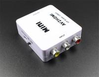hdmi composite wandler adapter groihandel-RCA AV zu HDMI Konverter Adapter Mini Composite CVBS zu HDMI AV2HDMI Converter im Einzelhandel Paket 1080P