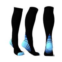 Wholesale table leg foot - Compression Socks Men Foot Anti Fatigue Football Socks Unisex Running Sports Women Men Leg Support Stretch Socks Magic Compression