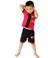 ingrosso ben cotone-Red maniche corte in cotone BEN-10 Cosplay Bambino vestiti per bambini 2 vestito abbigliamento Giochi di ruolo per il tempo libero