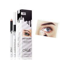 göz kalemi kalem dudak 12 toptan satış-12 adet / takım Beyaz Eyeliner Kalem Lot Menow göz Makyaj Su Geçirmez Uzun Ömürlü Göz Kalemi Dudak Kalemler Kozmetik