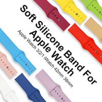 relojes bandas de colores al por mayor-Banda de deporte de silicona suave y colorida correa de reloj de repuesto Sportsband correa de reloj para 42 mm 38 mm reloj de Apple 3 2 1 iWatch Goophone reloj 3