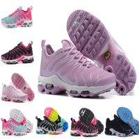 Wholesale flat shopping - Shop Online Sales vapormax Tn Running Women Shoes Wholesale 2018 New Classic Puls Tn Women Shoes for High quality Sports Baket Tn Chaussures