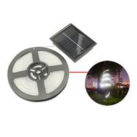 éclairage à cordes solaires blanches achat en gros de-16.4ft imperméable à l'eau solaire alimenté LED Tube Tube de lumière de jardin ABS plastique + cuivre + Silicone lumière extérieure (blanc chaud)