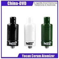 Wholesale dry herb atomizer ceramic - 100% Original Yocan Cerum Atomizer Dry Herb Wax Vaporizer with Quartz Dual Coil And Ceramic Donut Coil
