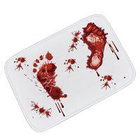 ingrosso sangue animale-Nuovi tappetini antiscivolo per pavimenti esclusivi Blood Footprints Map Animal Mandala Pastiglie per il bagno Camera da letto Cucina Cars Flanella Zerbino
