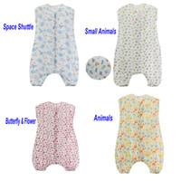 Wholesale thinnest sleeping bag - Cotton Muslin Thinner Double Layers Summer Infant Sleepsacks Length 70-100cm Baby Sleeping Bag