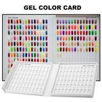kart ipuçları toptan satış-216/120 Renkler Modeli Tırnak Jel Lehçe Renkli Ekran Kutusu Kitap Adanmış Beyaz Tırnak Jel Lehçe Ekran Kartı Tablosu ile İpuçları