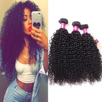 Wholesale hair extensions grade 8a resale online - 8A Grade Brazilian Virgin Hair Bundles Straight Body Wave Loose Wave Kinky Curly Deep Wave Unprocessed Virgin Human Hair Extensions