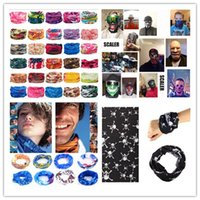 Wholesale face mask chocolate - Rebel pirate skull mask Multi Functional Outdoor Cycling Scarf Magic turban Sunscreen Headgear For Men Women 205 colors