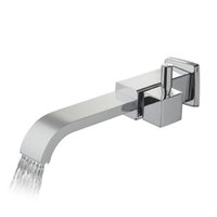 Wholesale Wall Mount Bathtub Faucets - Wholesale- e-pak BEST Contemporary Bathroom Basin Faucet Solid Brass torneira 97088 Bathtub Basin Faucet Waterfall Vessel Vanity Taps