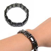 magnetische schmuck für männer großhandel-Magnetisches Armband für Frauen-Manngewichtsverlust verdrehte Magnet-Gesundheit, die Armband-Armband-Schmuckbio-Luxusschwarz-Stein-magnetisches Armband abnimmt