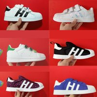 Wholesale Baby Closes - Hot Sale Fashion baby Casual Shoes Superstar Female stan Sneakers smith kids Zapatillas Deportivas Mujer Lovers Sapatos Femininos