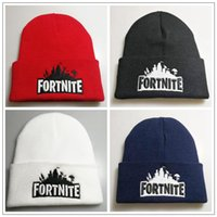Wholesale crochet hats for sale - 4 Colors Game Fortnite Knitting Caps Teenager Winter Warm Hat Unisex Warm Knitted Beanies Hats Hip Hop Sports Hat CCA10245