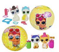Wholesale pet toy rubber ball - Randomly send 10cm diameter lol pet doll ball 3pcs