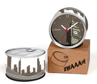 Wholesale london metal - Only 6-10 Days Arrive To UK By E-Packet Air Shipping 2pcs lot London Clock Big Ben Wall Clock Fridge Magnets Can Gifts