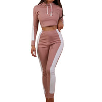 Wholesale shorts suit set for women for sale - Two Piece Set Tracksuit For Women Top Pants Set Women Casual Sweat Suits Fitness Blue Green Outfits Tracksuits