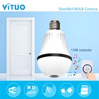 Wholesale Wireless Security Light Camera - 960P 1.3mp 360 degree Bulb VR Panoramic Camera E27 LED Light Wireless Wifi Home Doorbell Security IP Camera mini CCTV YITUO