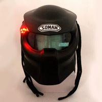 masque de prédateur achat en gros de-Masque de casque New Black / Bright Black Predators Masque de moto en fibre de verre Iron Man Full face moto