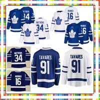 kadri jersey al por mayor-Jersey de Toronto para hombre 34 Auston Matthews Mitch Marner Nazem Kadri 29 William Nylander Maple Leafs Camisetas de hockey