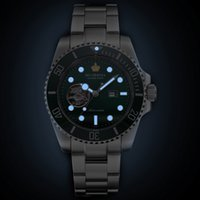 водонепроницаемые часы оптовых-New  2018 MGORKINA  Men's Stainless Steel Mechanical Watch Ceramic Bezel Waterproof Automatic Watches For Men