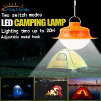 diodos de luz led cuadrados al por mayor-Ultra brillante 17 LED Linterna para acampar 2 Modos de luz Luz LED recargable portátil para tiendas de interior Deportes al aire libre