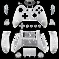alojamiento del controlador al por mayor-Xbox One Gamepad DIY personalizado blanco mate vivienda de reemplazo Shell con botones para controladores inalámbricos Gaming Gamepad