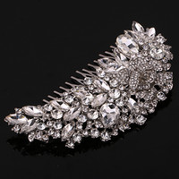 Wholesale beaded hair combs - Luxury Crystal Beaded Bridal Hair Comb Free Shipping New Style Wedding Hair Accessory Low Price but High Quality Evening Party Hair Jewelry