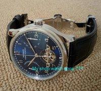 ingrosso orologi farfalla blu-nuovo quadrante blu 43 millimetri fibbia a farfalla automatico self-wind orologi meccanici riserva di carica uomo orologi zdf8