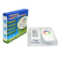 12v licht dimmer großhandel-DC12V-24V 18A RGBW RGBWW LED Controller Dimmer 2,4 G Wireless Touchscreen Fernbedienung 4Ch für LED-Streifen-Licht
