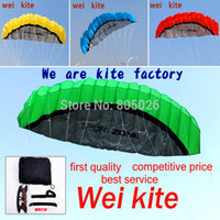 Wholesale outdoor stunts - free shipping 2.5m dual Line Stunt power Kite soft kite Parafoil surf flying outdoor fun sports kiteboard