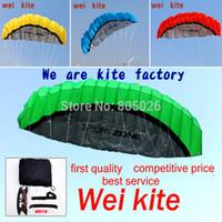 Wholesale kite line stunt - free shipping 2.5m dual Line Stunt power Kite soft kite Parafoil surf flying outdoor fun sports kiteboard