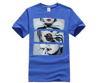 Wholesale men red lips online - Blunt Rolling RED Lips T Shirt Men Chronic Herb Stoner Black T Shirts Party Smoking Shirts Cotton Custom Tees