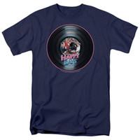 erkek kısa kollu gömlek resmi toptan satış-Resmi Gömlek Kısa Kollu Düzenli Mutlu Günler Tv Show Kayıt Ekip Boyun Erkek Tee Gömlek