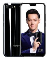 huawei inç ekranlı telefon toptan satış-Orijinal Huawei Onur 10 Küresel Firmware Octa Çekirdek 128 GB Çift Arka Kameralar 24.0MP 5.84 inç Tam Görünüm Ekran Unlocked Cep Telefonu