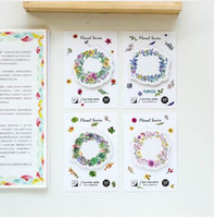 Wholesale stationery wholesalers online - 4 Floral series sticky note sheet flower memo pad planner stickers Stationery Office accessories School supplies