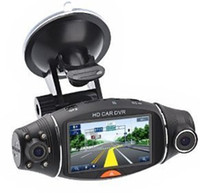 "Wholesale portable lcd dvr - R310 FHD Dual Lens 2.7"" LCD Display HD 720P Portable Car Camera DVR Video Recorder With G-Sensor Car DVR"