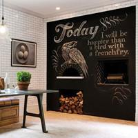 çocuk için duvar panosu toptan satış-Sanat Duvar Sticker Tebeşir Tahtası Blackboard Etiketler Çıkarılabilir Beraberlik Dekor Duvar Çıkartmaları Çocuk Odaları 40 * 200 cm