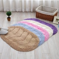 Wholesale chenille bathroom mats for sale - Group buy Soft Chenille Skin friendly x60cm Non Slip Bath Mats Bathroom Mat For Bedroom Toilet Rugs Set Water Absorption Carpet Colors Floor Mat