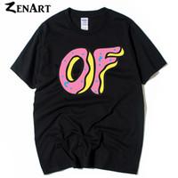 futuro impar camisetas venda por atacado-Odd Futuro frente pequeno logotipo de volta grande logotipo de Donuts Odd Futuro Lobo Gang homem meninos o pescoço plus size algodão de manga curta T-shirt
