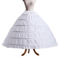 кринолин свадебное платье оптовых-Белый 6 обручи бальное платье юбка бесплатная доставка Crinoline Underskirt свадебные юбки слип юбка Crinoline для Quinceanera Свадебные платья