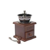 ingrosso smerigliatrice d'annata-Mini manuale in legno chicco di caffè grinder Burr Spice Vintage Spice coffee grinder Retro manuale manovella in legno metallo Herb Burr Mill