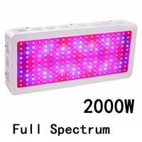 geführtes pflanzenlichtspektrum großhandel-Full Spectrum 2000W Doppel Chip LED wachsen Lichter Rot Blau UV IR Für Zimmerpflanze und Blume Hohe Qualität