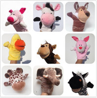 Wholesale family puppets resale online - HOT Lovely Cloth Doll Family Finger Puppet Baby Educational Cartoon Animal Hand Toy Soft c