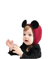 sombreros recién nacidos orejas al por mayor-2018 Nuevo sombrero del bebé orejas de ratón de dibujos animados lindo orejeras bebé niñas sombrero 4 colores moda recién nacido tapa