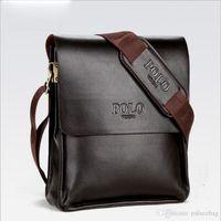 ingrosso borse casual maschile-Borsa da uomo a tracolla in pelle da uomo con tracolla in pelle nera da uomo a tracolla in pelle da uomo.